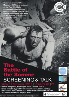 Battle of the Somme Screening & Talk