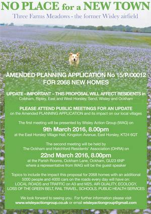 Wisley New Town Public Meetings March 2016