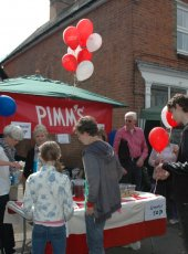 The Cobham Heritage PIMMS stall - always busy