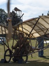 23 - 1909 Demoiselle Aircraft (replica) engine gets fired up