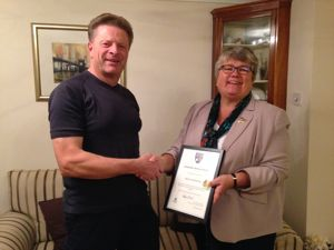 Chairman's Award for Voluntary Service to Adrian Witherley
