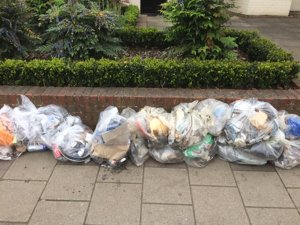 Some of the litter collected on Sun 5 May 2019